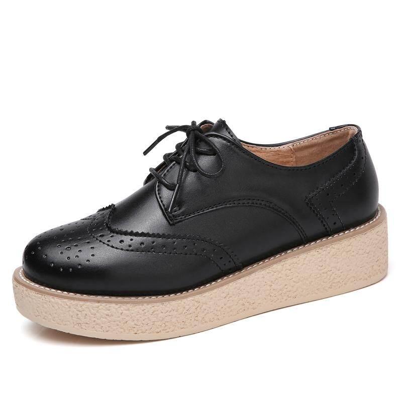 Detail Gambar Wanita Sepatu Kulit Datar Oxford Renda Kasual Sepatu Sapi Jantan Sepatu Platform Kasual Sepatu Datar Pakaian Sepatu Bisnis Sepatu Terbaru