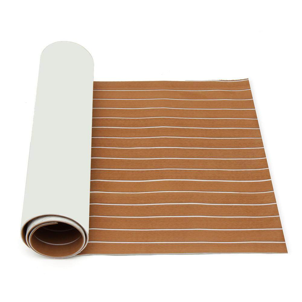 900mmx2400mmx5.5mm Light Brown and White EVA Foam Faux Teak Sheet Boat Yacht Synthetic Teak Decking