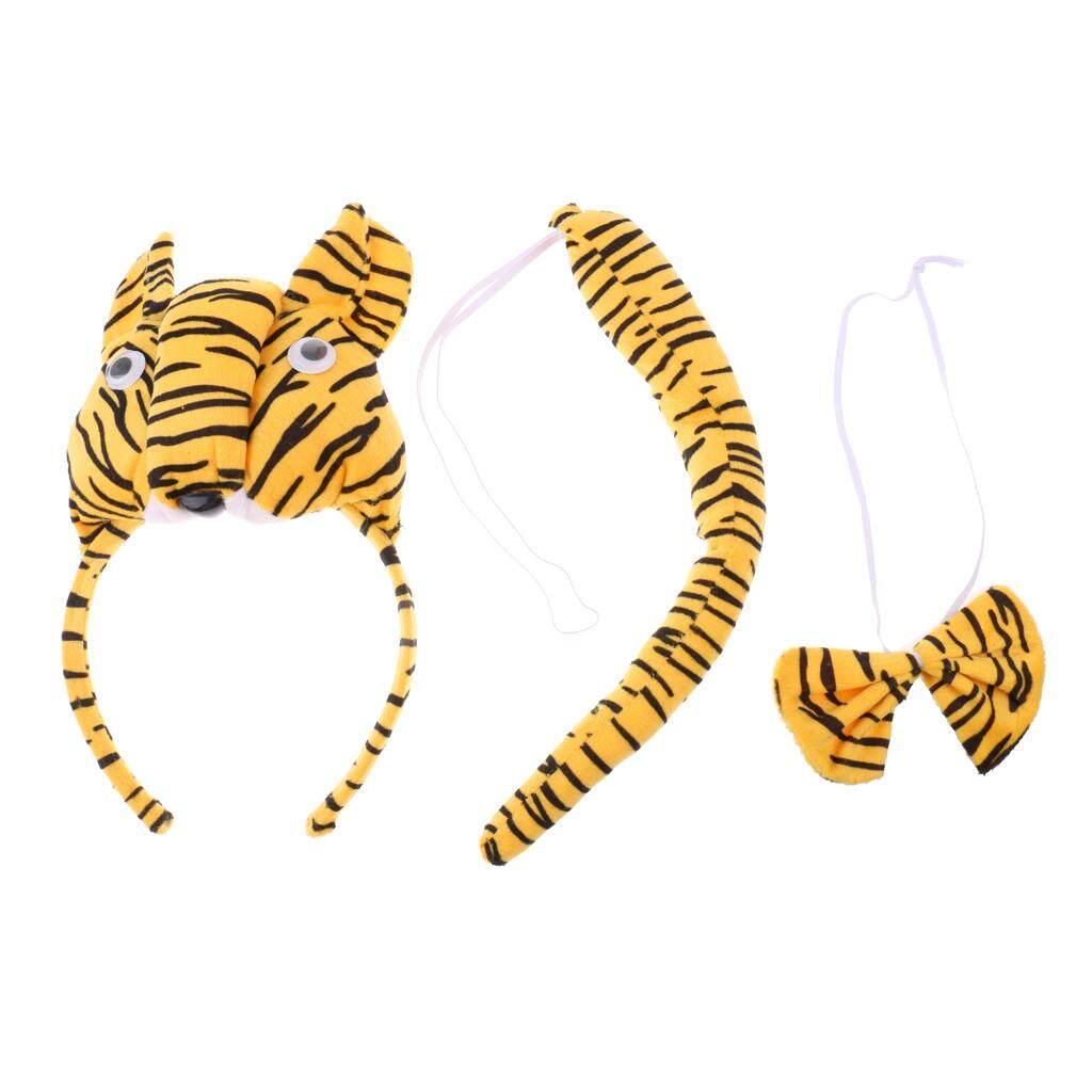 MagiDeal Christmas Girl Boys Headband Bowtie Tail Kit Tiger Costume Set Party Cosplay  sc 1 st  Onshca & Tiger Tail Costume Accessory price in Singapore
