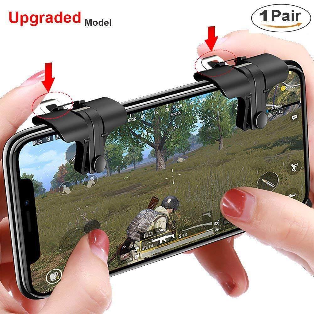 HP Obral Kontroler Game Pubg (Terbaru) tujuan dan Kapasitif Sensitif Tekan Menembak Buttoms L1 R1 untuk Pubg/Pisau Keluar/Aturan Bertahan Hidup joystick Ponsel untuk Android iPhone Ios 1 Pair