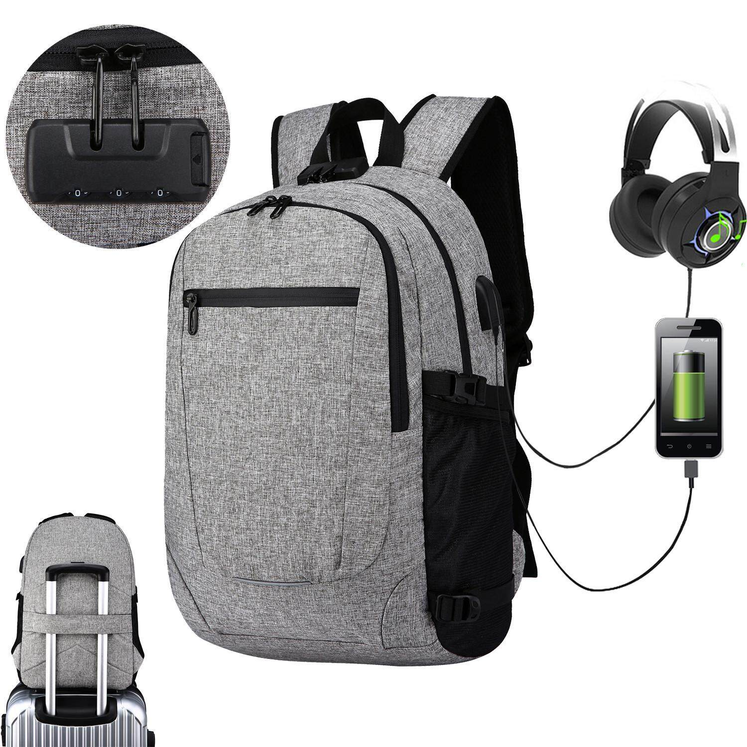Buy Sell Cheapest Men Outdoor Travel Best Quality Product Deals Tas Slempang Pria With Port Earphone Hole Oxoqo Water Resistant Backpacks For Laptop Computer Notebook Business Backpack Usb Charging