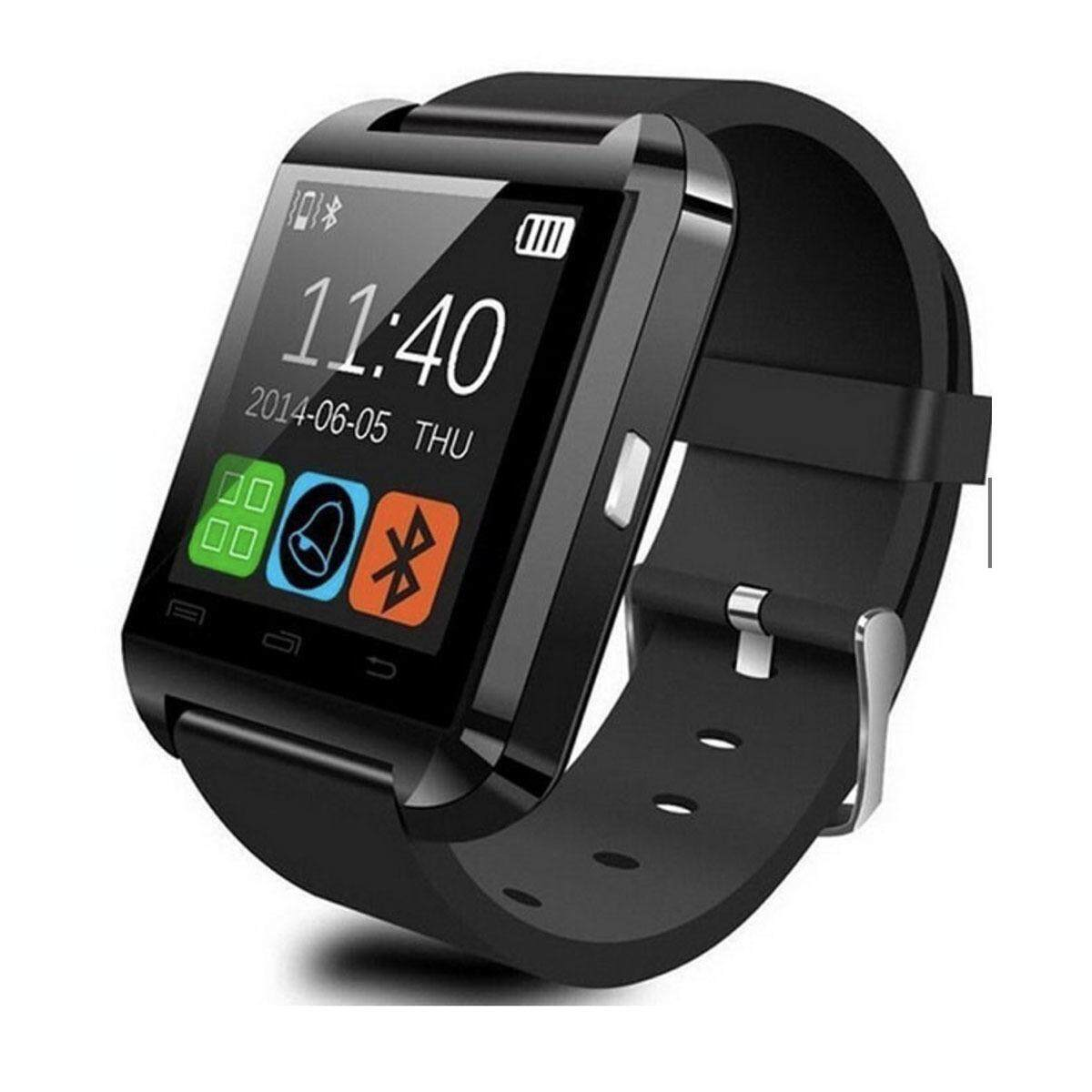 TEKKASHOP XMAS GIFT U8 Classy Smart Watch Touch Screen Bluetooth Connect Android iOS Phone, Black