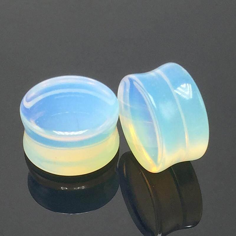 1 Pcs Kreatif Opal Anting Telinga Piercing Hollow Perhiasan Badan Yang Panjang Diameter 6 Mm