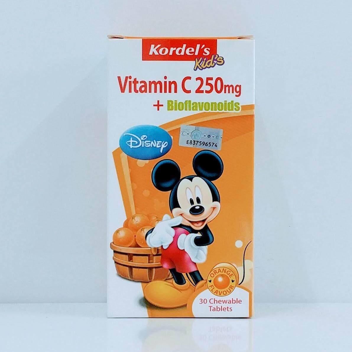 Kordel's Vitamin C 250mg + Bioflavonoids Orange Flavor Chew 30's (Exp01/20)