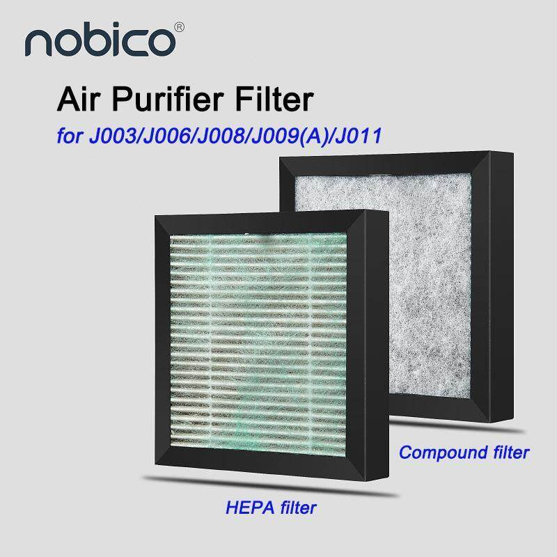2pcs/set Nobico J008/J003 Air Purifier Air Cleaner Filter With True HEPA and Compound Filter Singapore