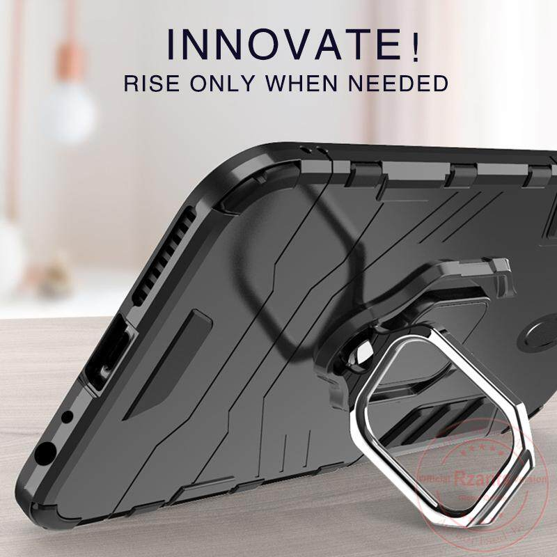 ... Rzants For untuk Xiaomi Redmi Note 5 Casing [Armor Ring] Shockproof Hybrid Armor Man
