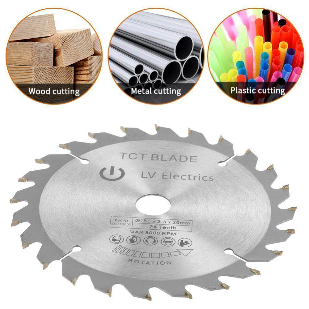 165 Mm 24 Bor Gerigi Diameter 20 Mm Gergaji Bulat Blade untuk Pemotongan Kayu-Intl