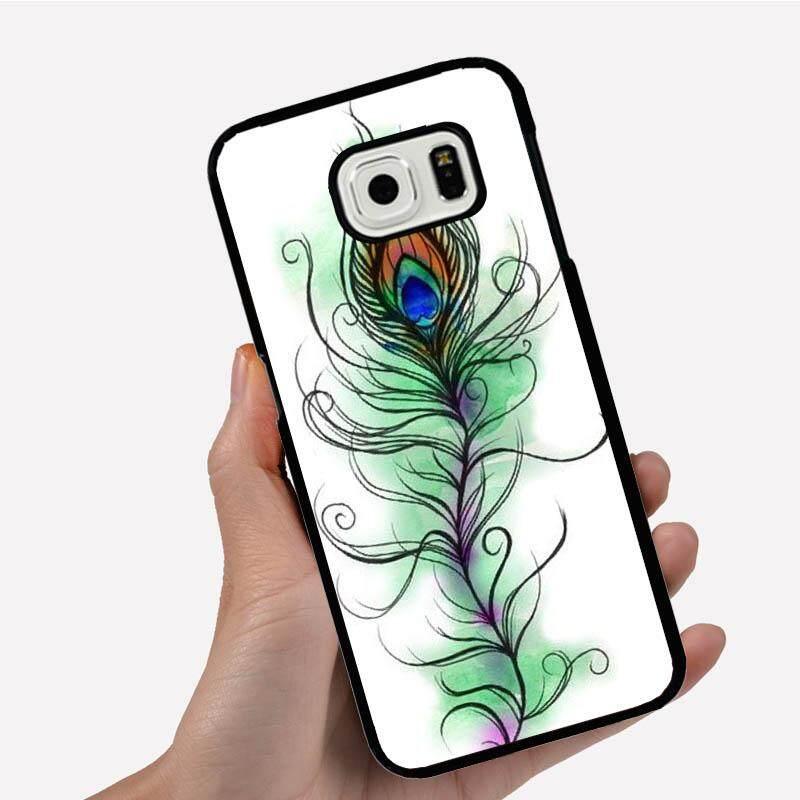 Casing Ponsel untuk Xiaomi Redmi 3 S dengan Satu Bulu Merak Hijau Gambar Kartun Pola Plastik Anti-Knock Telepon Case Cover