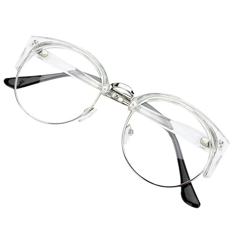 afbbc9dac24 Retro Style Women Men Round Nerd Glasses Clear Lens Eyewear Metal Frame  Glasses Colors Transparent