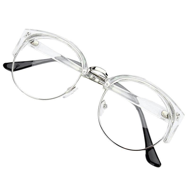 fd22ab08b3 Retro Style Women Men Round Nerd Glasses Clear Lens Eyewear Metal Frame  Glasses Colors Transparent