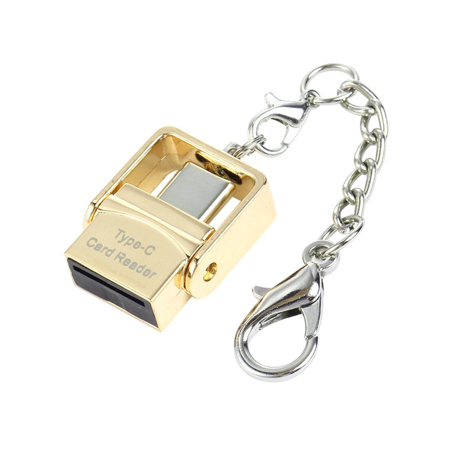 Hình ảnh leegoal Metal Mobile Phone Card Reader Type-c OTG Interface For Android And More,(Gold) - intl