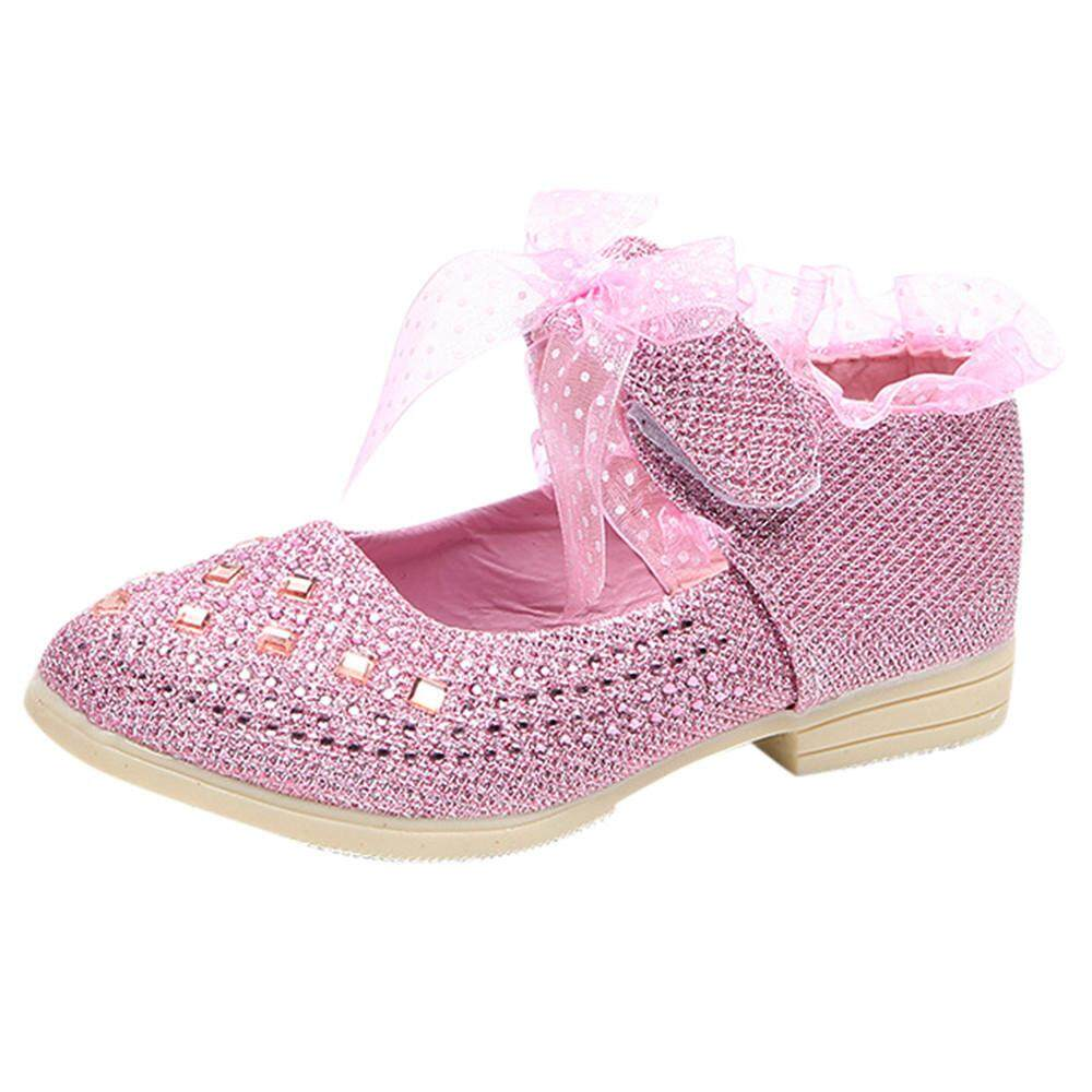 CNB2C Shoes For Kids Girl Toddler Baby Girls Sneaker Dot Sole Kids Children  Princess Lace Sequins cef1fca5e3fa
