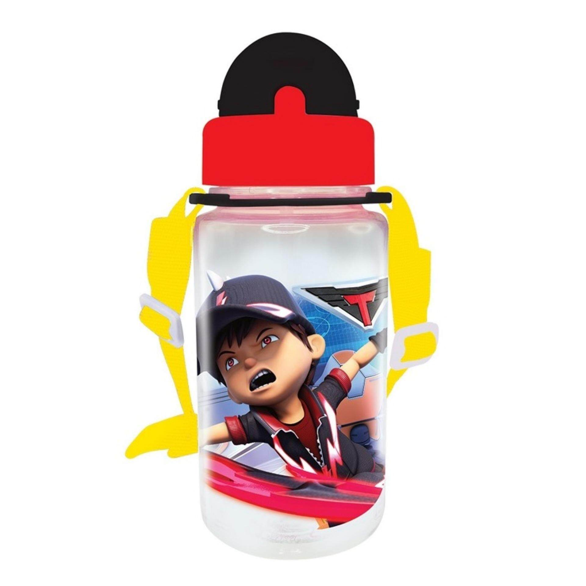 Boboiboy Galaxy BPA Free 350ML Tritan Bottle With Straw - Red Colour