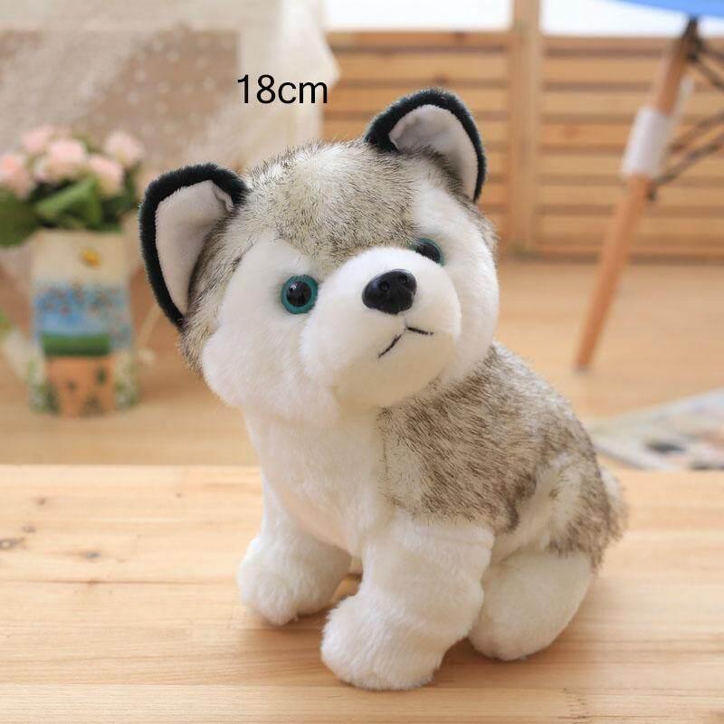 3 Ukuran Boneka Binatang Lucu Anjing Husky Mahal Mainan Boneka Hadiah Ulang Tahun-Internasional