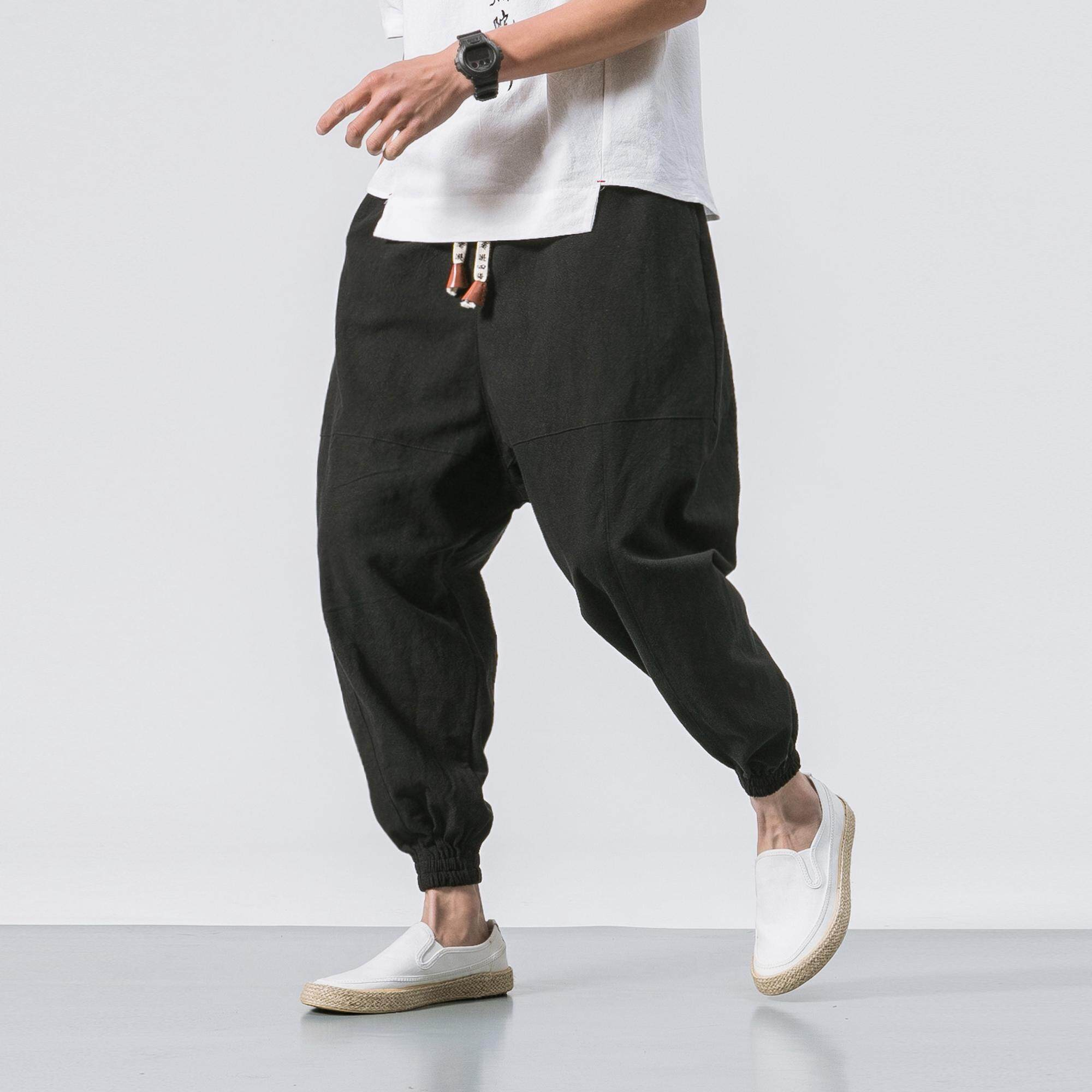 1e86452648b1f Male Jogger Pants 2018 Summer Fashion Big Yards Casual Street Japanese  Chinese Wind Loose Cotton Trousers