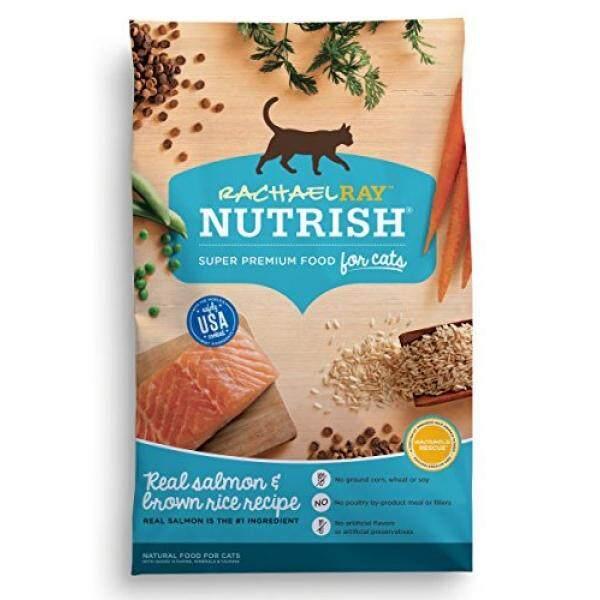 Rachael Ray Nutrish Kering Alami Makanan Kucing, Salmon & Beras Merah Resep 14 Lbs-Intl