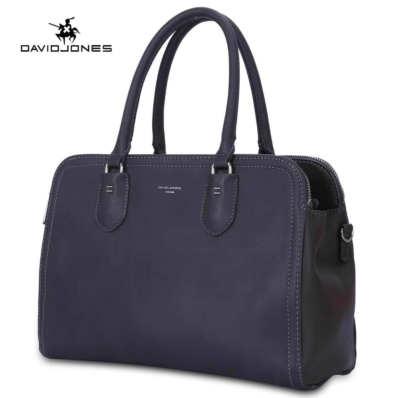 กระเป๋าเป้ นักเรียน ผู้หญิง วัยรุ่น สุรินทร์ DAVIDJONES ผู้หญิง Top   Handle กระเป๋าหนัง PU หญิงกระเป๋าสะพายข้างขนาดใหญ่ฤดูใบไม้ผลิ PLAIN เลดี้เด็กสาวกระเป๋าสะพายบ่าฤดูร้อนกระเป๋าสะพายจัดส่งฟรี