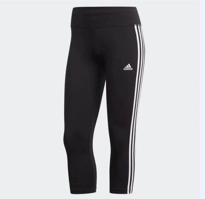 Adidas Women Training D2M 3S 3/4 pants black CE2048 S-XL 03'
