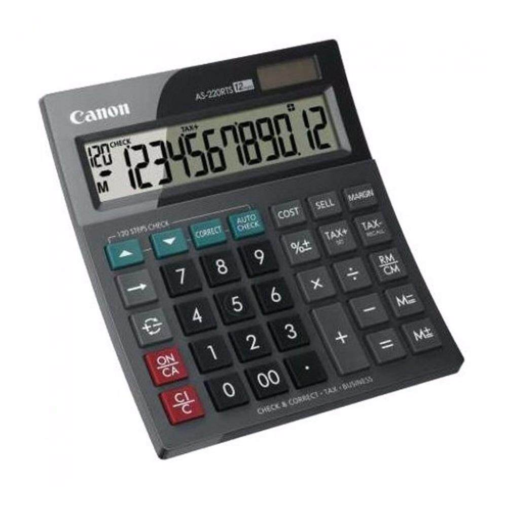 Canon AS-220RTS Business Desktop 12 Digits Calculator