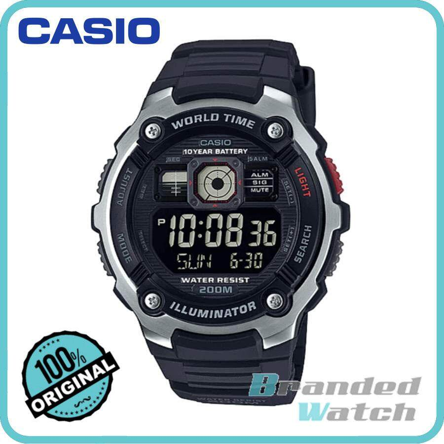 Cek Harga Casio Ae 1000w 1bvdf Mens Watch Grey Terbaru World Time 1a Original 2000w Digital 10 Years Battery Resin
