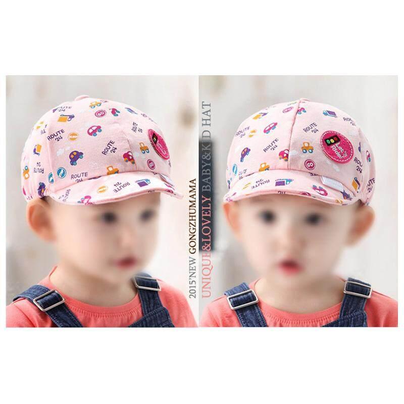 Anak Bayi Snapback Perempuan Laki-laki Cetak Kartun Topi Balita Bayi Mobil .