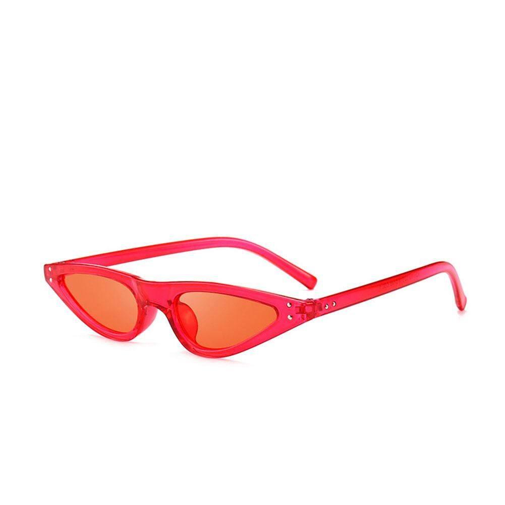 Qimiao Pria Wanita Mata Kucing Kacamata Fashion Bingkai Kecil Snap Jalan Kaca Mata Hitam Kacamata Hadiah