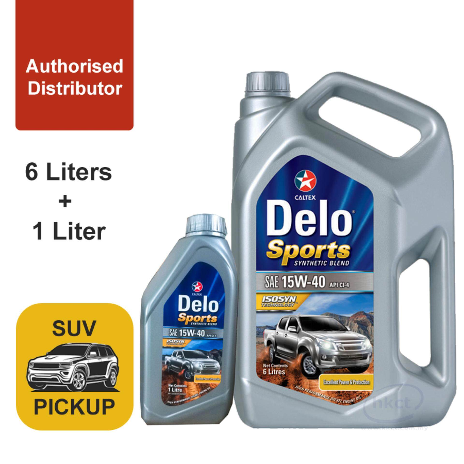 CALTEX Delo (R) Sports Synthetic Blend SAE 15W-40 API CI-4