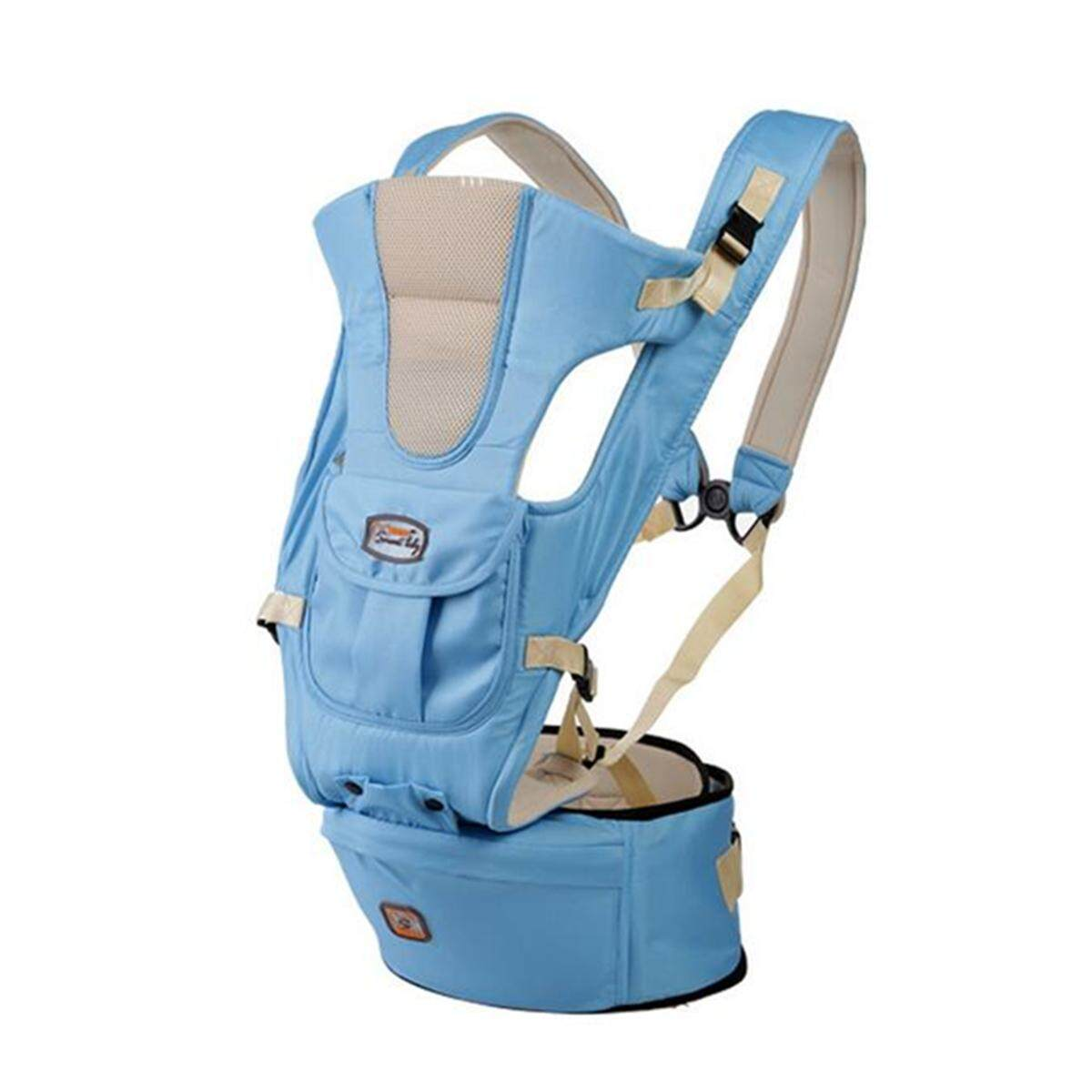 Baby Carrier Infant Kid Sling Adjustable Breathable Ergonomic Wrap Backpack Newblue By Glimmer.