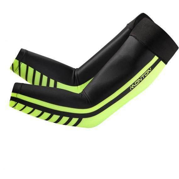 MONTON UV ARM SLEEVES CYCLING LIFESTYLE HAFFET 2 BLACK GREEN