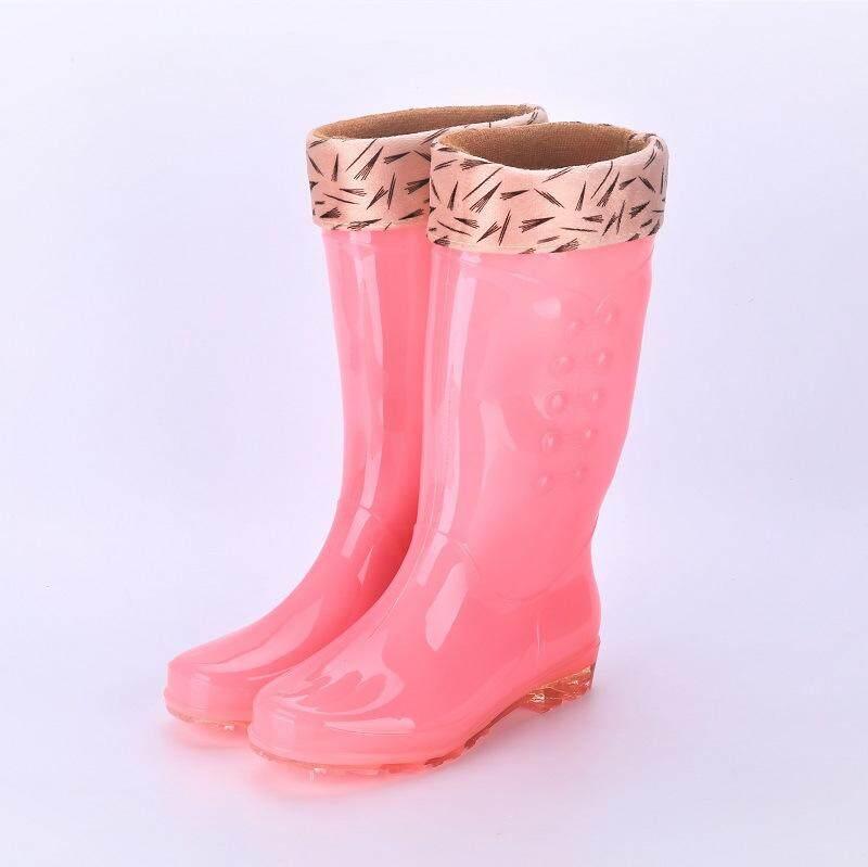 Oultlet Tren Wanita Pvc Permen Transparan Warna Sepatu Bot Hujan Tidak Sandal Tahan Tahan Air Air Sepatu By Outlet Wf.