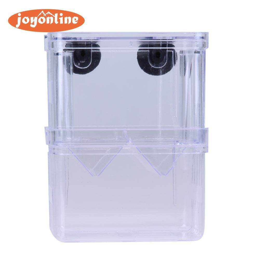 Acrylic Fish Breeding Isolation Box Incubator Fish Tank Decor(black)-S -Intl By Joyonline.
