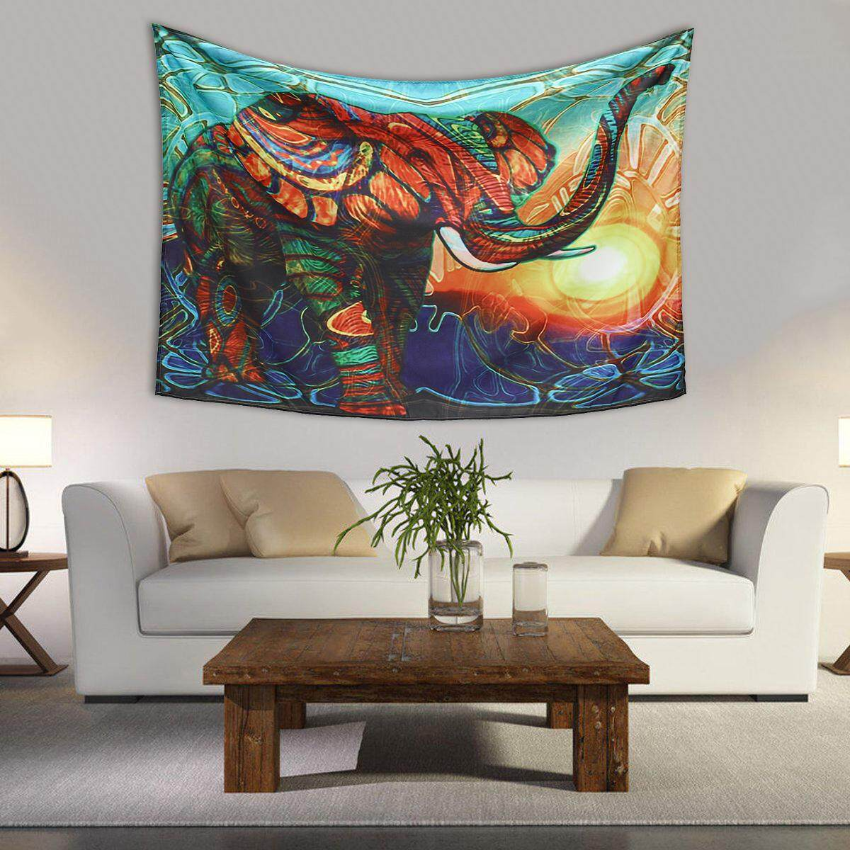 Mandala Elephant Tapestry Wall Hanging Decorative Tapestry Art Boho Decoration 200x150