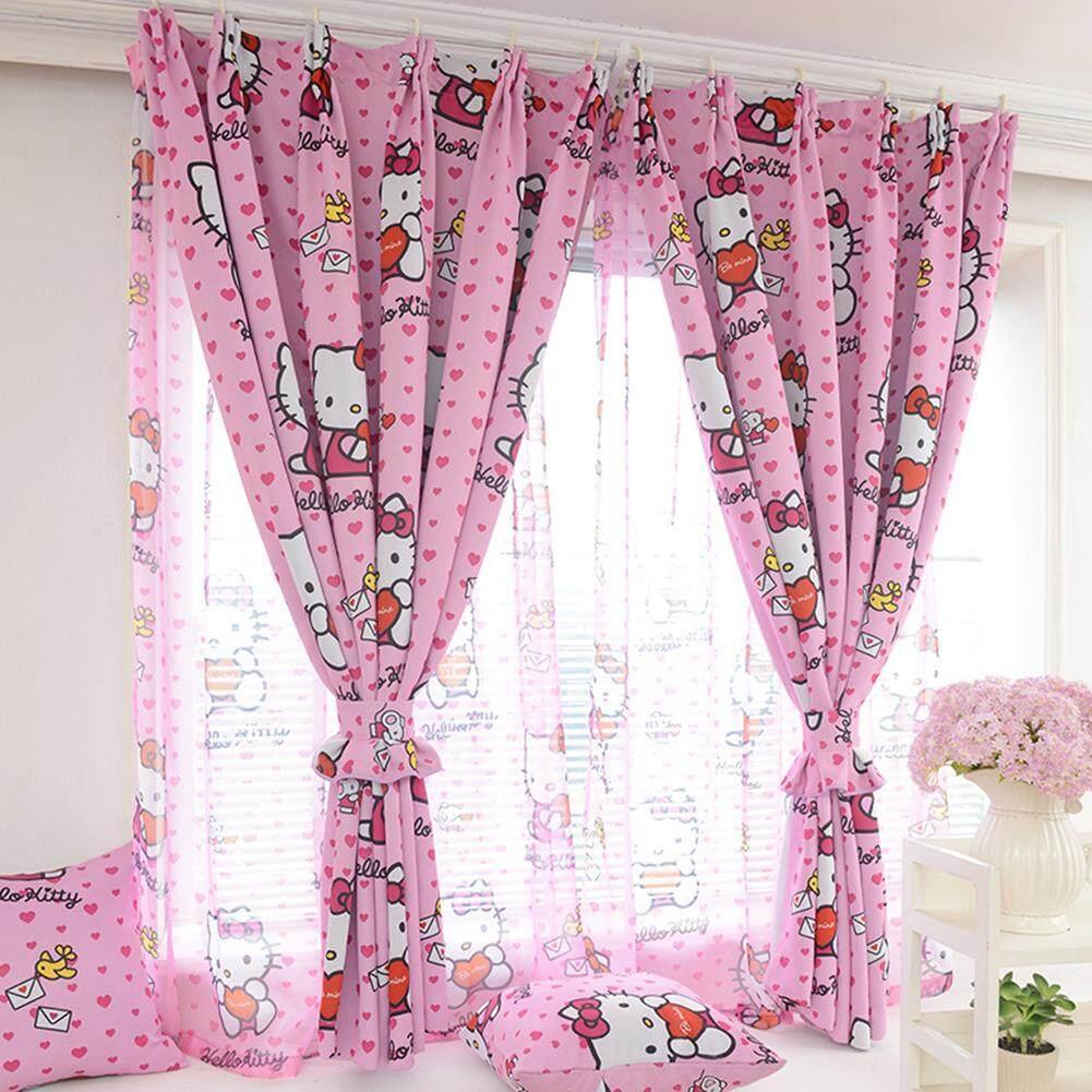Hello Kitty Single-sided Printing Window Screening Bedroom Decor for Child