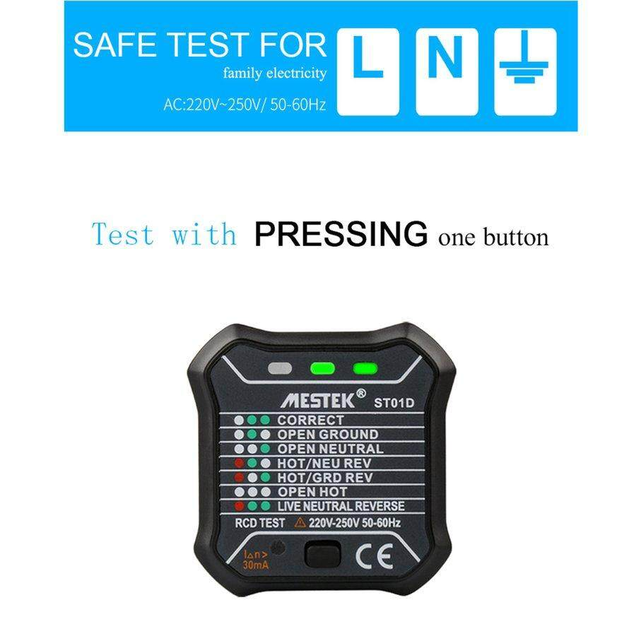 OSMAN ST01D Stopkontak Tester Sirkuit Polaritas Tegangan Detektor Otomatis Uni Eropa Plug