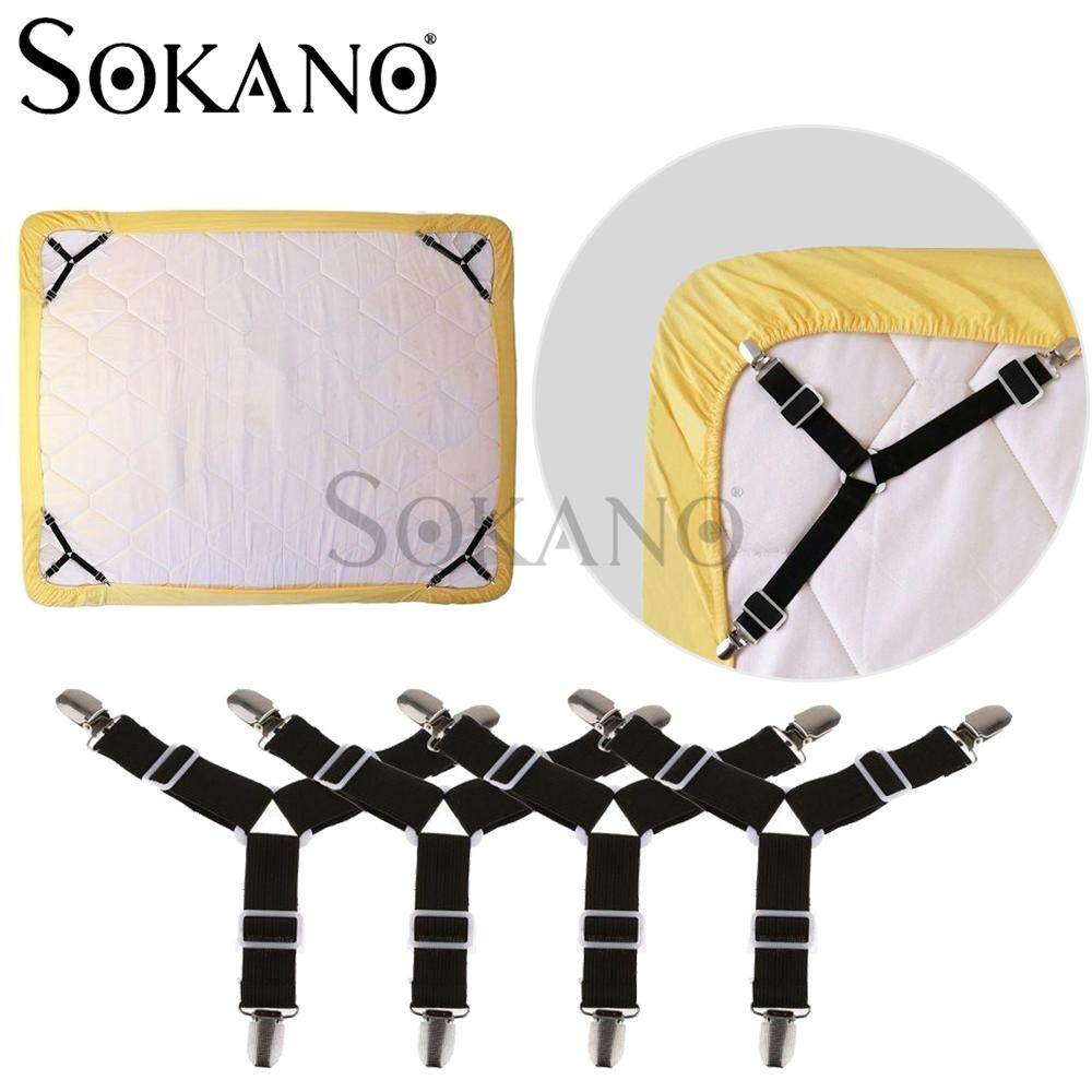 SOKANO 4 Pcs Set Mattress Sheet Clips Cover Grippers