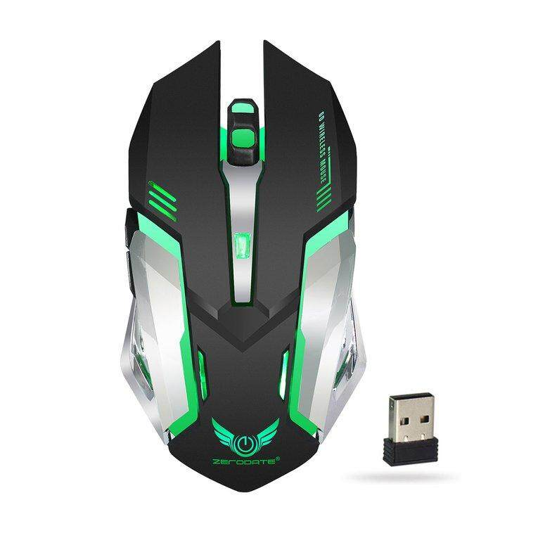 B X70 7 Usb Kedip Belakang LED Isi Ulang Mouse Gaming 2,4 GHz Mouse Optik Nirkabel