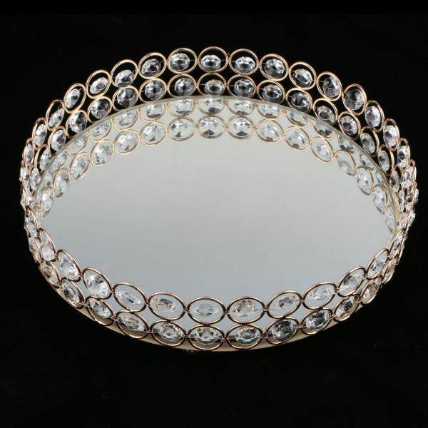BolehDeals Crystal Ring Holder Storage Jewelry Plate Fruit Plate Dish Home Kitchen Decor
