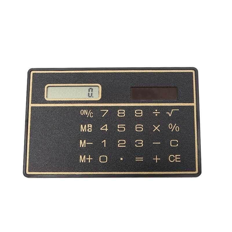 moyaa Energy Saving Compact Credit Card Size Calculator Mini Calculating Machine - intl