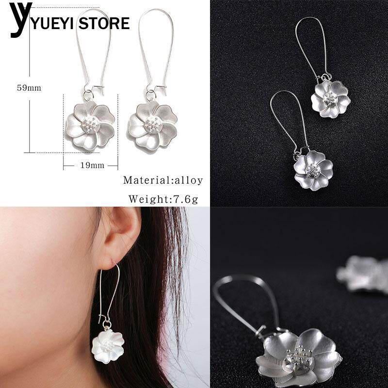 2e372cdaaf8 YYSL Piercing Earring Ear Studs Jasmine Flower Silver Plating Accessories