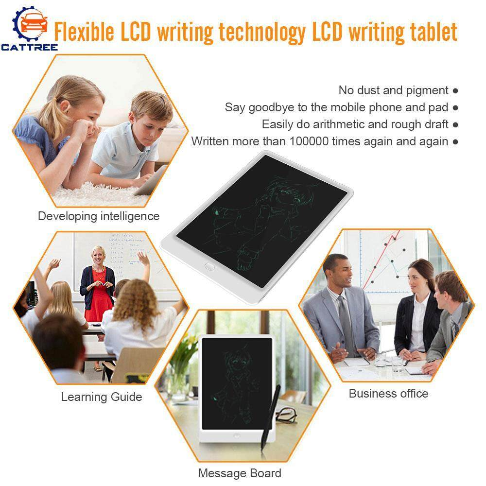 Catree 10 Inches Writing Tablet Portable with Stylus LCD Gift Kids