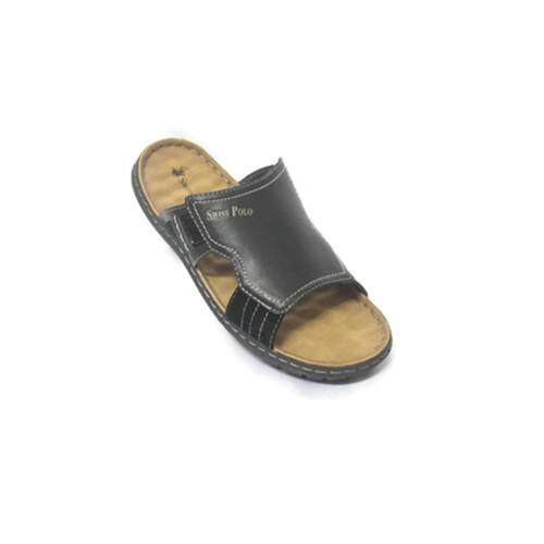c1968c1f8a55 Swiss Polo Gentleman Leather Casual Comfort Sandals 4175 (Black)