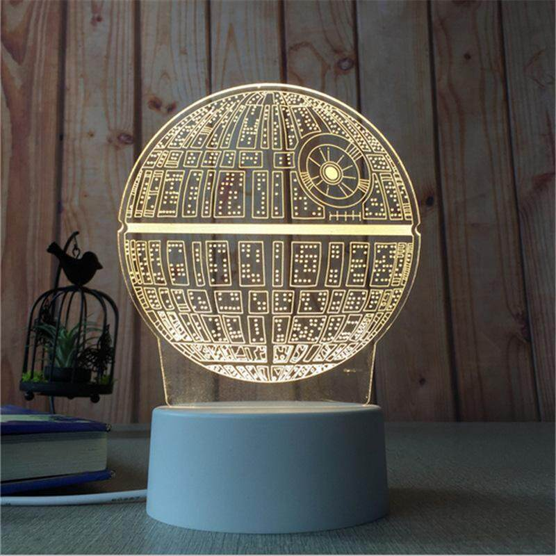 3D Optical Illusion LED Table Night Light(Planet)