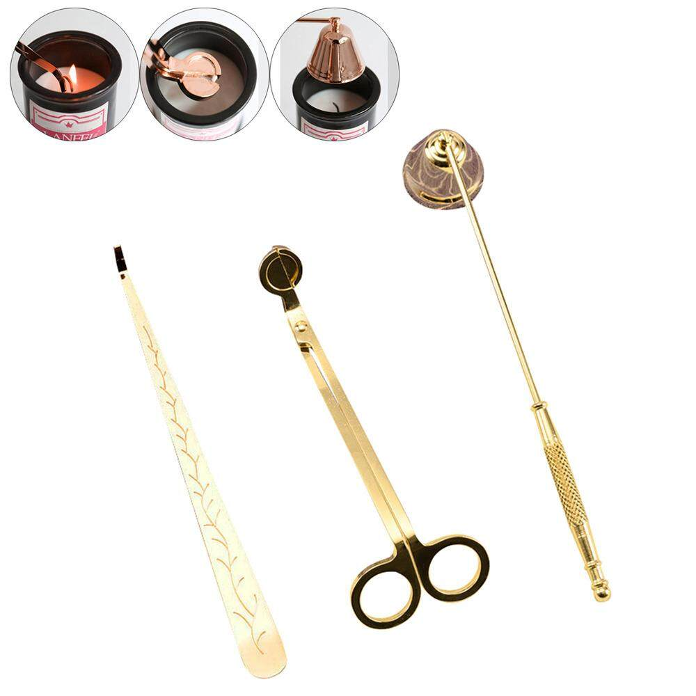 Candle Snuffer Candle Accessory Set, Brass Renaissance Candle Snuffers