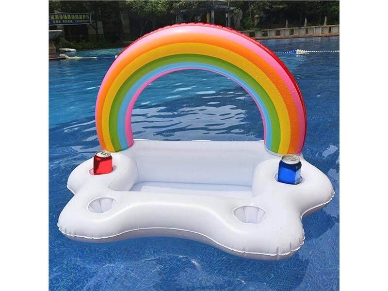 ฤดูร้อนเรือลอยอัดลมห่วงยางเตียงลมลอยน้ำที่วางแก้วสระว่ายน้ำของเล่น (95*60*55 เซนติเมตร) - Intl By Fancytoy Market.