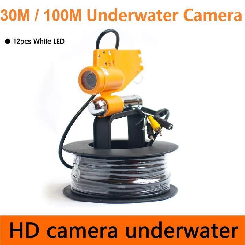 100 Mntsc CR-006 Kamera Bawah Laut 12 LED Putih 600 TVL Gantungan Tunggal Memancing Kamera Penemu Ikan Beberapa Jenis Panjang Kabel