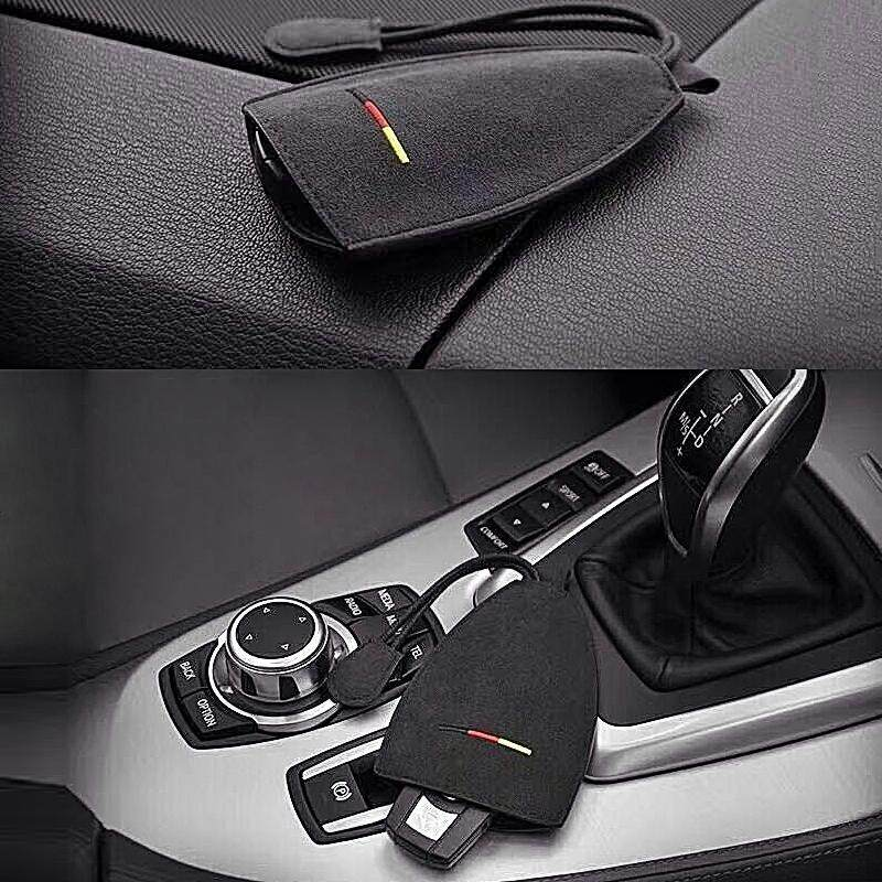1pcs anti fur car key holder leather key case leather key wallet of germany nation style fit for AUDI A1 A3 A4 B6 B8 A6 C5 80 A7 Q3 Q5 Q7 TT RS4 RS5 RS6 S4 S5 S6 S7 RS8 - intl