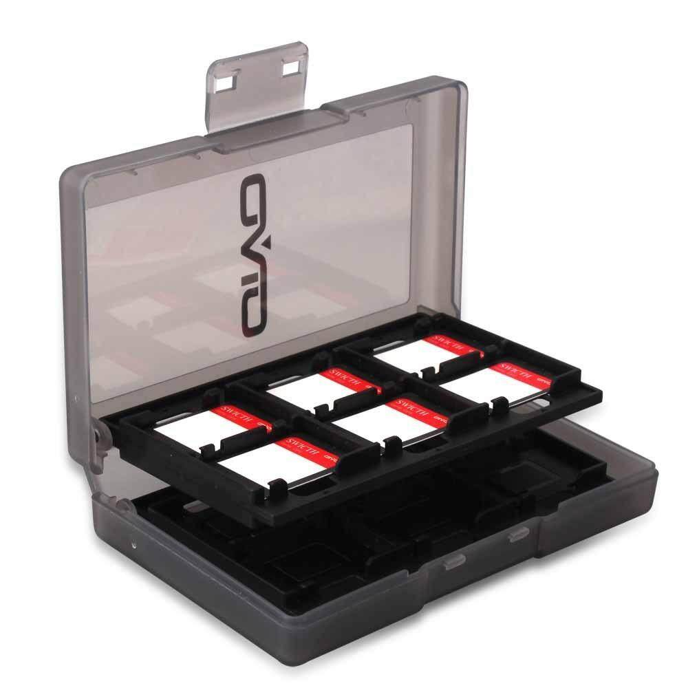 Tombol Nintend Wadah Kartu Permainan 24 Micro Sd Tempat Kartu Kotak Penyimpanan untuk Nintendo Switch