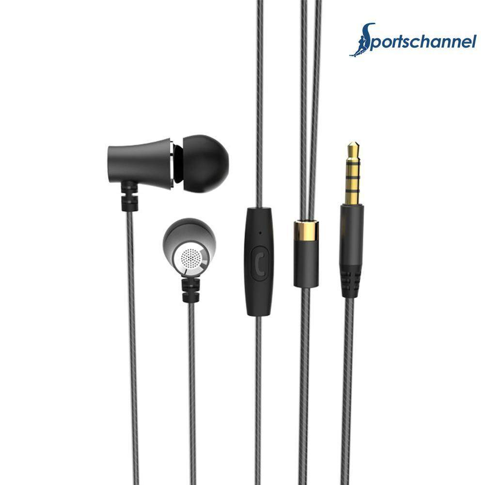 Universal Metal Earphones Wire Type Sports Running In-Ear Headphones - intl