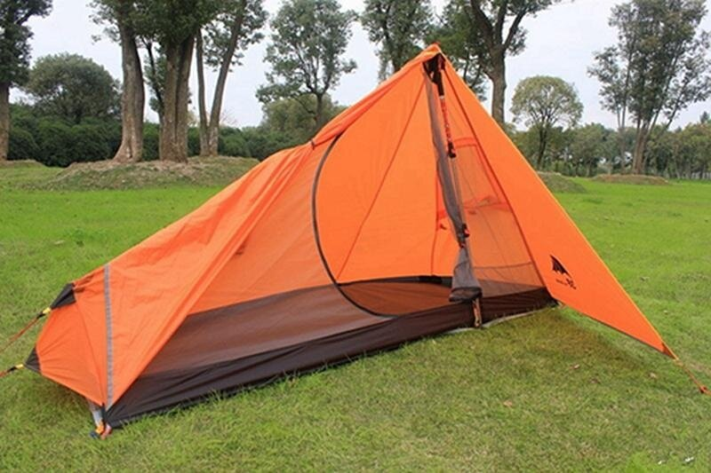 Price Comparisons Of 65Kg 3F Ul Gear Rodless Tent Ultralight 15D Silicone Single Person Camping Tent 1 Person 3 Season With Footprint 3Colors Intl