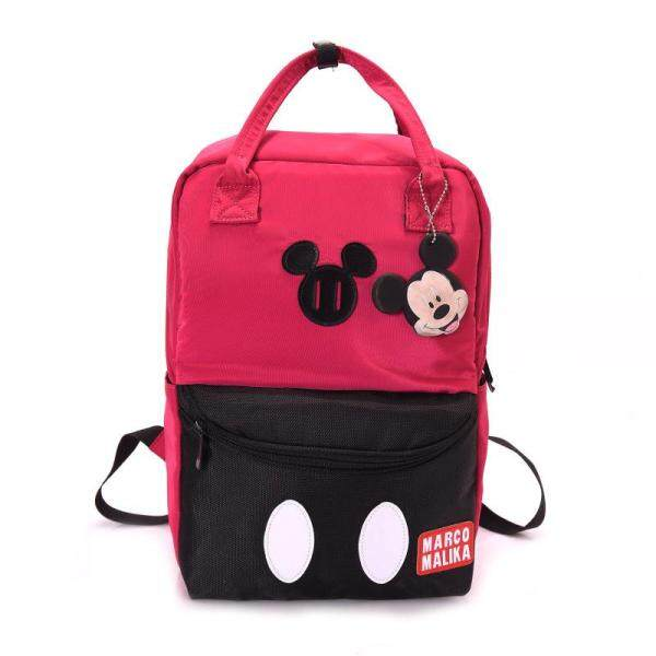 Womens Mickey Mouse Dual Color Backpack Student Bag